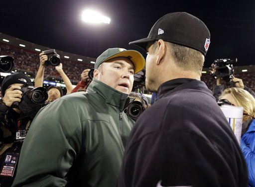 Mike McCarthy, Jim Harbaugh