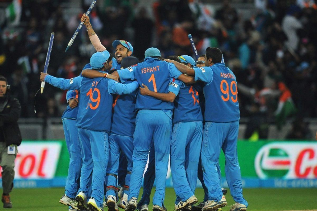 Indian team huddle. Image courtesy www.icc-cricket.com under the Creative Commons license terms.